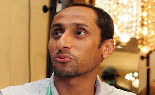 لاعب كرة القدم الدولي سامي الجابر قبل علاج الصلع تماما